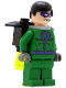 Minifig No: bat023  Name: The Riddler with Complete Jet Pack Assembly (Set 7787)