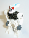 Minifig No: bio014a  Name: Bionicle Mini - Barraki Pridak (Pearl Dark Gray Torso)