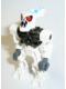 Minifig No: bio014a  Name: Bionicle Mini - Barraki Pridak (Pearl Dark Gray Torso)