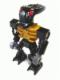 Minifig No: bio015  Name: Bionicle Mini - Barraki Mantax (Pearl Gold Torso)