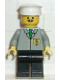 Minifig No: bnk002  Name: Bank - Black Legs, White Hat, Moustache
