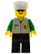 Minifig No: bnk003  Name: Bank - Black Legs, White Hat, Sunglasses