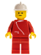 Minifig No: boat002  Name: Jacket with Zipper - Red, Red Legs, White Fire Helmet