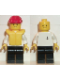 Minifig No: boat005  Name: Boat Worker - Torso with Anchor, Black Legs, Red Construction Helmet, Life Jacket
