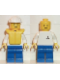 Minifig No: boat006  Name: Boat Worker - Torso with Anchor, Blue Legs, White Construction Helmet, Life Jacket
