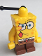 Minifig No: bob008  Name: SpongeBob - Intent Look, Tongue Out