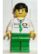 Minifig No: car001  Name: Cargo - White Shirt, Green Legs, Black Male Hair