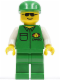 Minifig No: car003  Name: Cargo - Green Shirt, Green Legs, Green Cap