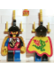 Minifig No: cas001  Name: Dragon Knights - Dragon Master, Yellow Plumes, Dragon Cape