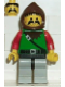 Minifig No: cas009  Name: Dark Forest - Forestman 4, Light Gray Legs with Black Hips