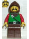 Minifig No: cas010  Name: Dark Forest - Forestman 4, Brown Legs