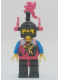 Minifig No: cas017a  Name: Dragon Knights - Knight 2, Black Legs with Red Hips, Black Dragon Helmet, Red Plumes