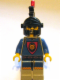 Minifig No: cas020  Name: Knights' Kingdoms I King Leo, Black Dragon Helmet, Red Plume Feather Triple
