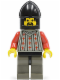 Minifig No: cas027  Name: Fright Knights - Knight 2, Black Chin-Guard
