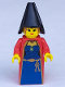 Minifig No: cas033  Name: Knights' Kingdom I - Queen Leonora (Maiden with Black Cone Hat)