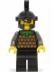 Minifig No: cas041  Name: Knights' Kingdom I - Gilbert the Bad, Black Dragon Helmet
