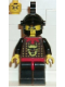 Minifig No: cas045  Name: Knights' Kingdom I - Robber 2, Black Dragon Helmet