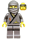 Minifig No: cas049  Name: Ninja - Gray