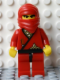 Minifig No: cas050new  Name: Ninja - Red (Reissue)