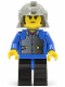 Minifig No: cas055  Name: Ninja - Samurai, Blue Young
