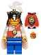 Minifig No: cas060  Name: Royal Knights - King, with cape and blue legs