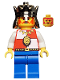 Minifig No: cas060a  Name: Royal Knights - King, with Blue Legs without Cape and Plume