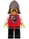 Minifig No: cas066  Name: Royal Knights - Knight 4, Dark Gray Neck-Protector
