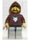Minifig No: cas072  Name: Wolf People - Wolfpack 1 with Brown Arms, Brown Hood