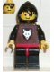 Minifig No: cas073  Name: Wolf People - Wolfpack 2 with Black Arms, Black Hood