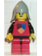 Minifig No: cas078  Name: Classic - Knights Tournament Knight Red, Red Legs with Black Hips
