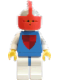 Minifig No: cas079  Name: Classic - Knights Tournament Knight Blue