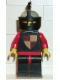 Minifig No: cas080  Name: Classic - Knights Tournament Knight Black, Black Legs with Red Hips, Light Gray Helmet, Black Visor