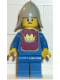 Minifig No: cas082s  Name: Classic - Yellow Castle Knight Blue - with Vest Stickers