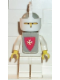 Minifig No: cas083s  Name: Classic - Yellow Castle Knight White Cavalry - with Vest Stickers