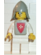 Minifig No: cas084s  Name: Classic - Yellow Castle Knight White - with Vest Stickers