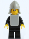 Minifig No: cas086a  Name: Classic - Yellow Castle Knight Black