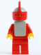 Minifig No: cas087a  Name: Classic - Yellow Castle Knight Red Cavalry