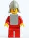 Minifig No: cas088a  Name: Classic - Yellow Castle Knight Red