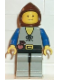 Minifig No: cas092  Name: Peasant - Light Gray Legs, Brown Hood