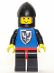 Minifig No: cas098  Name: Black Falcon - Black Legs with Red Hips, Black Chin-Guard