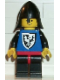Minifig No: cas099  Name: Black Falcon - Black Legs with Red Hips, Black Neck-Protector