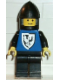 Minifig No: cas100  Name: Black Falcon - Black Legs, Black Chin-Guard