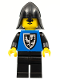 Minifig No: cas101  Name: Black Falcon - Black Legs, Black Neck-Protector (old style torso with rounder bottomed shield)