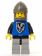 Minifig No: cas102  Name: Black Falcon - Light Gray Legs with Black Hips, Dark Gray Chin-Guard