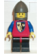 Minifig No: cas104  Name: Crusader Axe - Black Legs with Red Hips, Dark Gray Chin-Guard