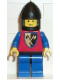 Minifig No: cas106  Name: Crusader Axe - Blue Legs with Black Hips, Black Chin-Guard