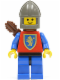 Minifig No: cas113a  Name: Crusader Lion - Blue Legs with Black Hips, Dark Gray Chin-Guard, Quiver