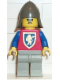 Minifig No: cas117  Name: Crusader Lion - Light Gray Legs, Dark Gray Neck-Protector