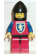 Minifig No: cas118  Name: Crusader Lion - Red Legs with Black Hips, Black Chin-Guard