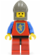 Minifig No: cas119  Name: Crusader Lion - Red Legs with Black Hips, Dark Gray Chin-Guard
